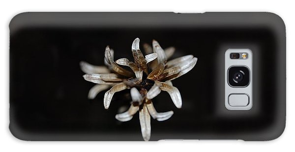 Weed On Black Galaxy Case by Mim White