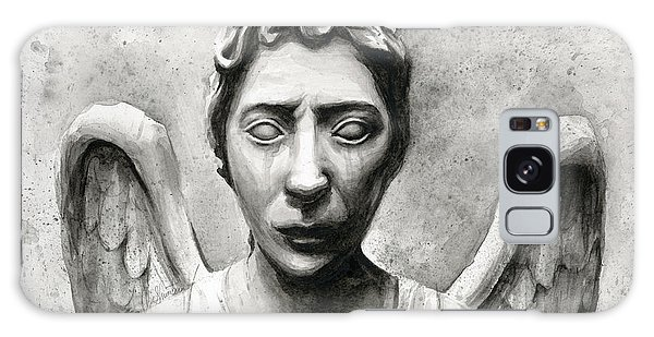 Science Fiction Galaxy Case - Weeping Angel Don't Blink Doctor Who Fan Art by Olga Shvartsur
