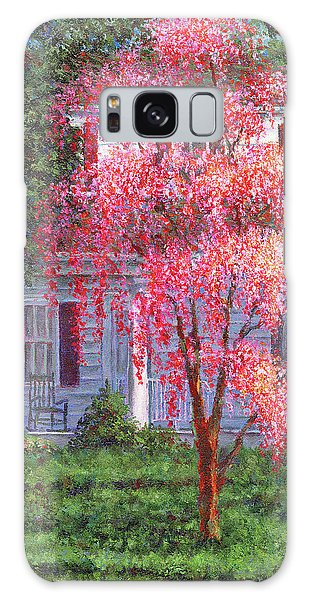 Weeping Cherry By The Veranda Galaxy Case