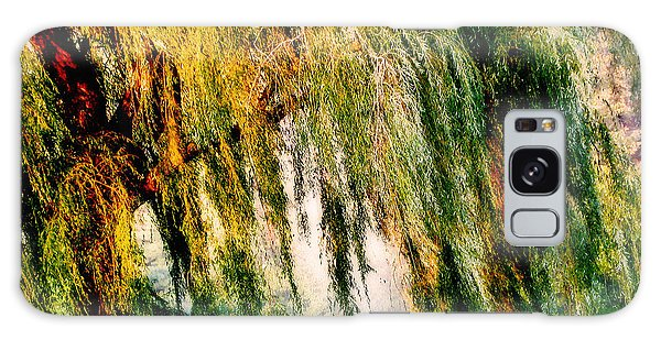 Weeping Willow Tree Painterly Monet Impressionist Dreams Galaxy Case by Carol F Austin