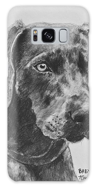 Weimaraner Drawn In Charcoal Galaxy Case