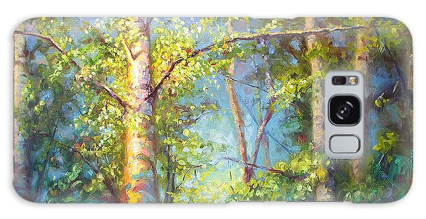 Welcome Home - Birch And Aspen Trees Galaxy Case