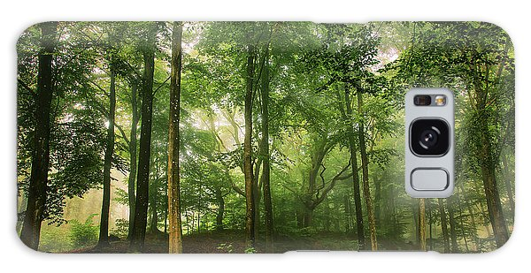 Green Leaf Galaxy Case - Welcome In The Forest. by Leif L??ndal