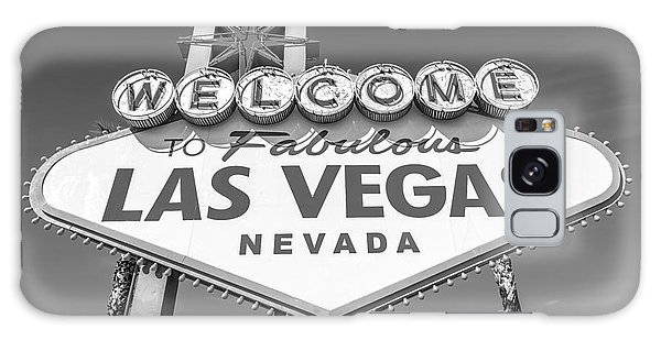 Welcome To Las Vegas Sign Black And White Galaxy Case