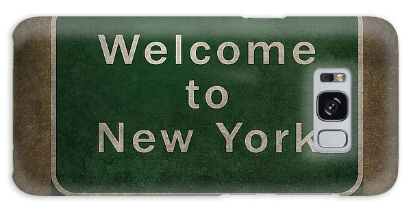 Welcome To New York Highway Road Side Sign Galaxy Case