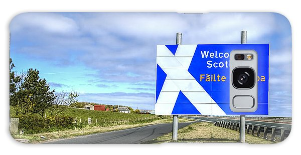 Scottish Galaxy Case - Welcome To Scotland by Evelina Kremsdorf