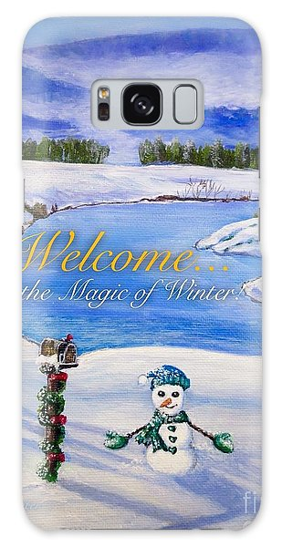 Scarf Galaxy Case - Welcome To The Magic Of Winter by Kimberlee Baxter