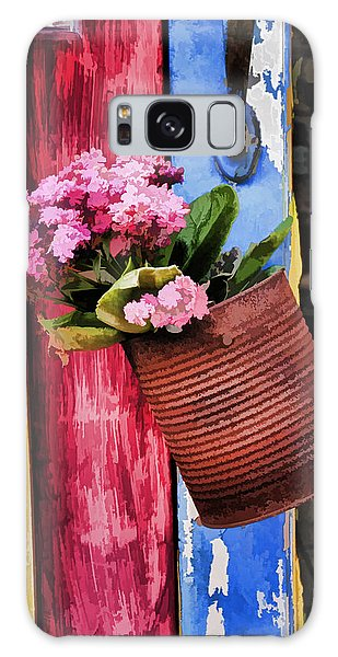 Welcoming Flowers Galaxy Case