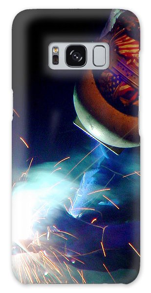 Welder On Times Square In Nyc Galaxy Case