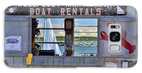 Wellfleet Harbor Thru The Window Galaxy Case by Allen Beatty