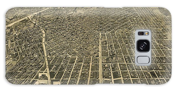 Wellge's Birdseye Map Of Denver Colorado - 1889 Galaxy Case by Eric Glaser