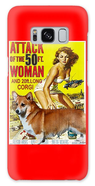 Welsh Corgi Pembroke Art Canvas Print - Attack Of The 50ft Woman Movie Poster Galaxy Case