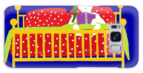 Welsh Snowman Bedtime  Galaxy Case by Barbara Moignard