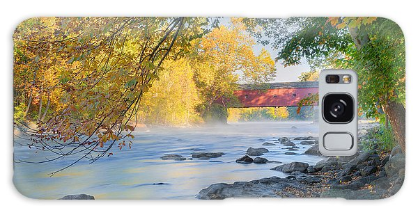 Galaxy Case featuring the photograph West Cornwall Covered Bridge Autumn by Bill Wakeley