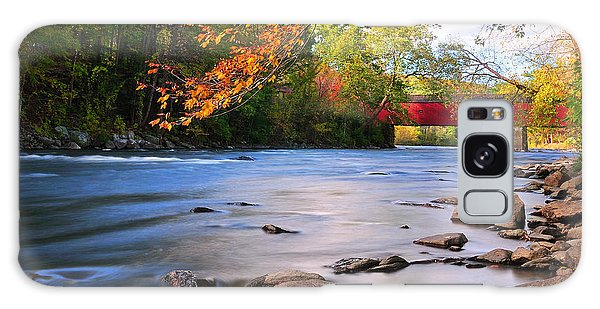West Cornwall Covered Bridge- Autumn  Galaxy Case