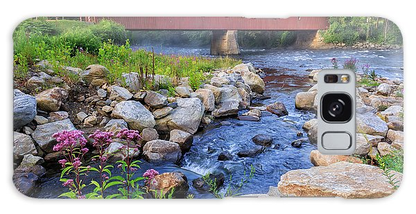 Galaxy Case featuring the photograph West Cornwall Covered Bridge Summer by Bill Wakeley