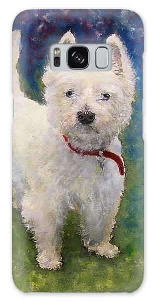 West Highland Terrier Holly Galaxy Case