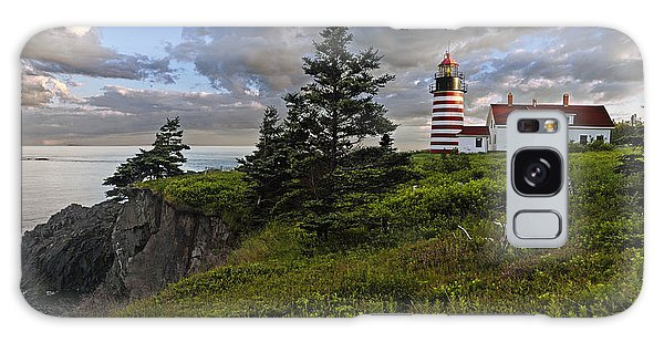 West Quoddy Head Lighthouse Panorama Galaxy Case by Marty Saccone