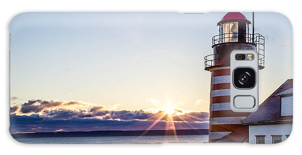 West Quoddy Head Lighthouse Sunrise  Galaxy Case by Trace Kittrell