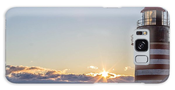 West Quoddy Lighthouse Sunrise Galaxy Case by Trace Kittrell