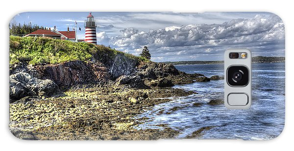 West Quoddy Lubec Maine Lighthouse Galaxy Case by Shawn Everhart