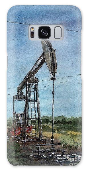 West Texas Pumpjack Galaxy Case by Tim Oliver