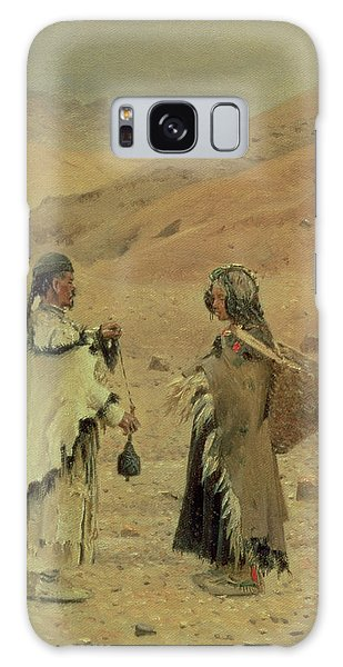West Tibetans, 1875 Oil On Canvas Galaxy Case