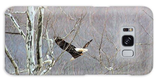 West Virginia Bald Eagle In Flight Galaxy Case