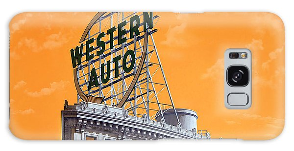 Western Auto Sign Artistic Sky Galaxy Case by Andee Design