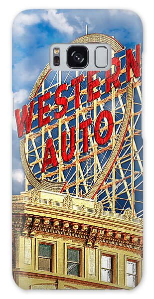Western Auto Sign Downtown Kansas City Galaxy Case