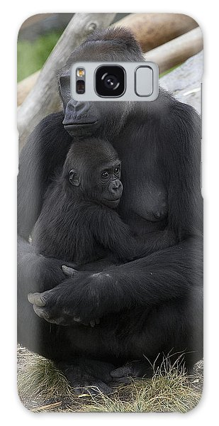 Western Lowland Gorilla Mother And Baby Galaxy Case