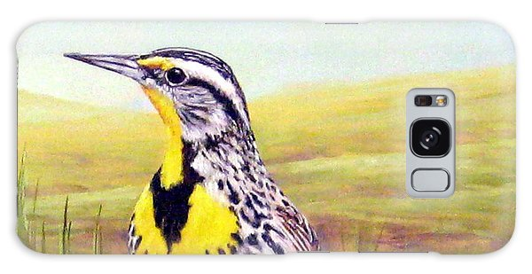 Western Meadowlark Galaxy Case by Tom Chapman