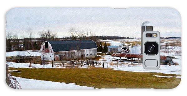 Western New York Farm As An Oil Painting Galaxy Case