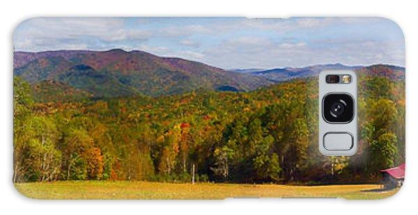 Western North Carolina Horses And Mountains Panorama Galaxy Case