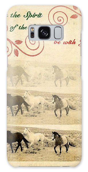 Western Themed Christmas Card Wyoming Spirit Galaxy Case