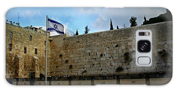Islam Galaxy Case - Western Wall And Israeli Flag by Stephen Stookey