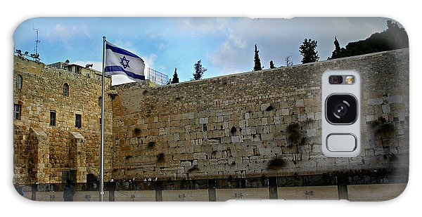 Western Wall And Israeli Flag Galaxy Case