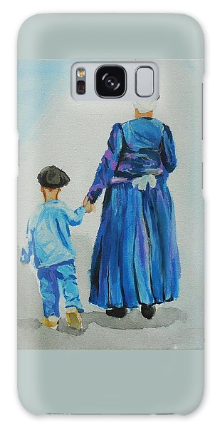 Westfriese Woman And Boy Galaxy Case