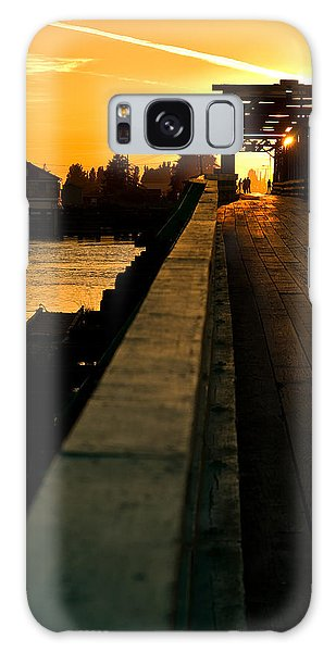 Westham Island Bridge Galaxy Case