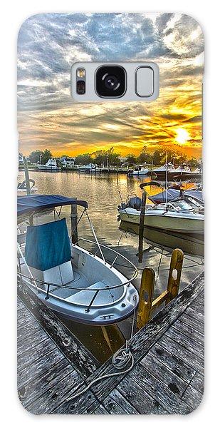 Westhampton Beach Marina Sunset Galaxy Case