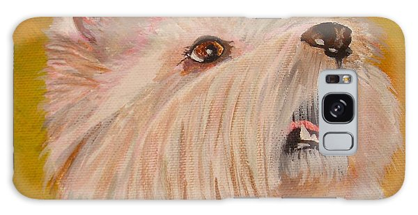 Westie Portrait Galaxy Case by Tracey Harrington-Simpson
