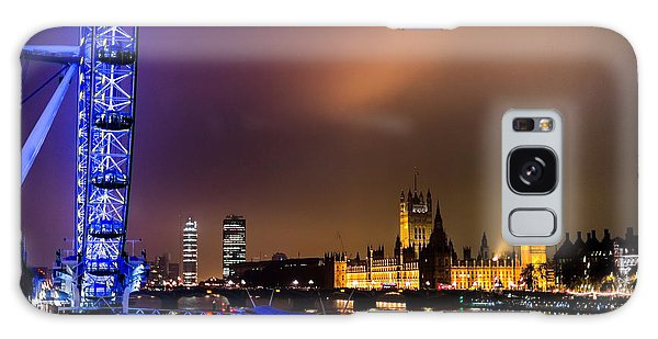 Westminster And Eye Night Glow Galaxy Case