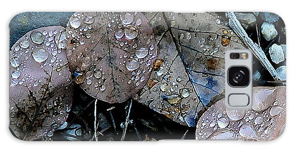 Wet Leaves Galaxy Case by Artist and Photographer Laura Wrede