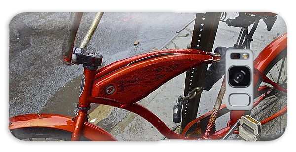 Wet Orange Bike   Nyc Galaxy Case