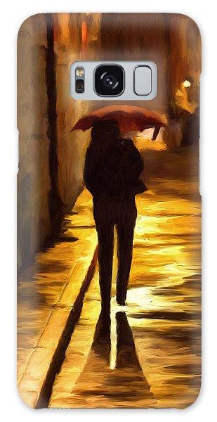 Wet Rainy Night Galaxy Case by Michael Pickett