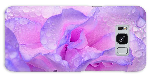 Wet Rose In Pink And Violet Galaxy Case by Nareeta Martin
