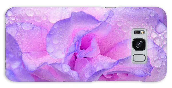 Wet Rose In Pink And Violet Galaxy Case