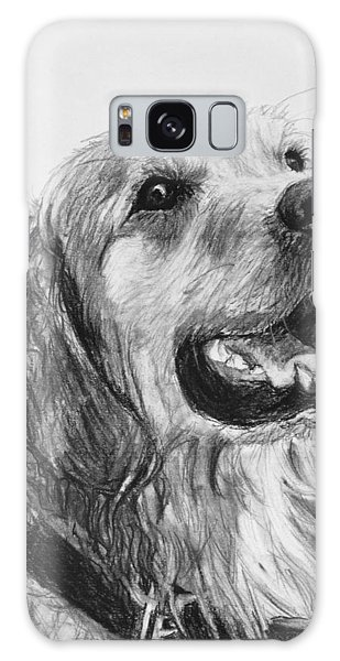 Wet Smiling Golden Retriever Shane Galaxy Case