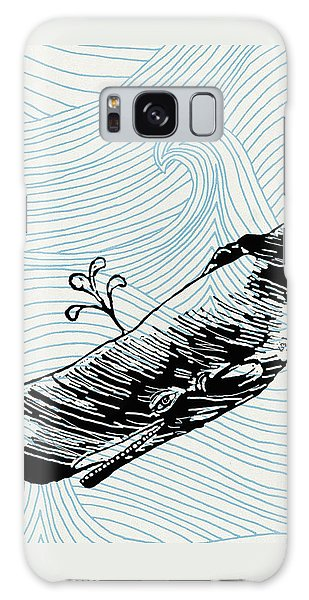 Whale On Wave Paper Galaxy Case