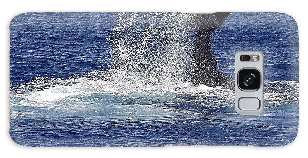 Whale Tale Splash Galaxy Case by Penny Lisowski